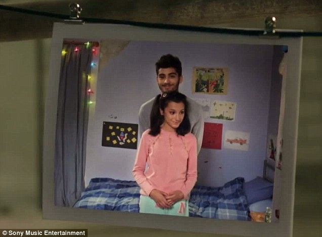 Old times: Zayn is picture with his younger sister Waliyha which is based on one of his old Malik photos