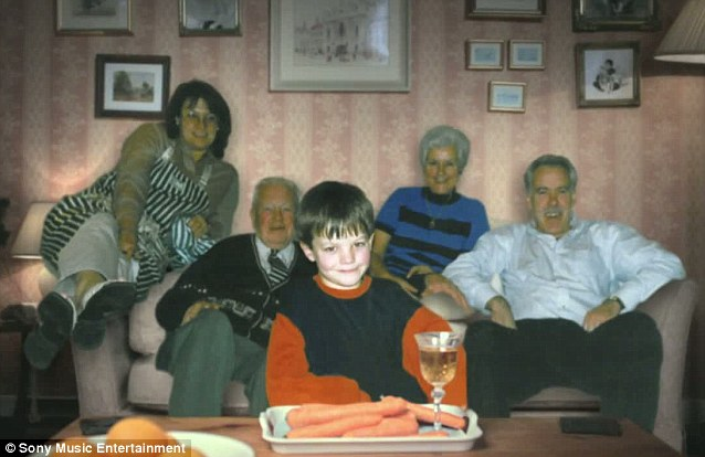Christmas time: Louis Tomlinson with his grandparents and great grandparents