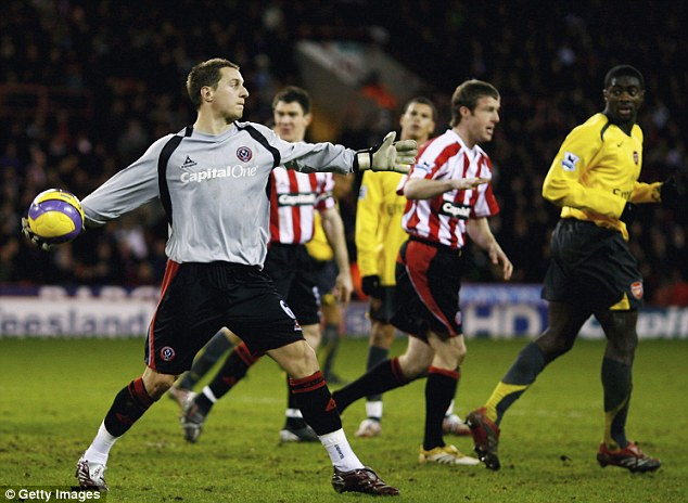 The Blades' No 2: Phil Jagielka was so good in goal Neil Warnock rarely named a goalkeeper among his substitutes