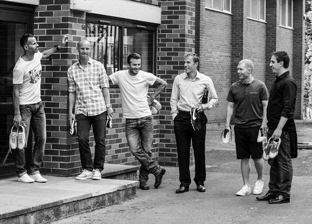 Six of the best: Ryan Giggs, Nicky Butt, David Beckham, Phil Nevile, Paul Scholes and Gary Neville (left to right)