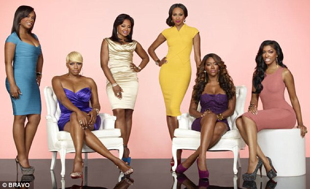 Back with a bang: Season six of the show, which stars Porsha (far right) along with (L-R) Kandi Burruss, NeNe Leakes, Phaedra Parks, Cynthia Bailey and Kenya, promises to be full of drama as usual