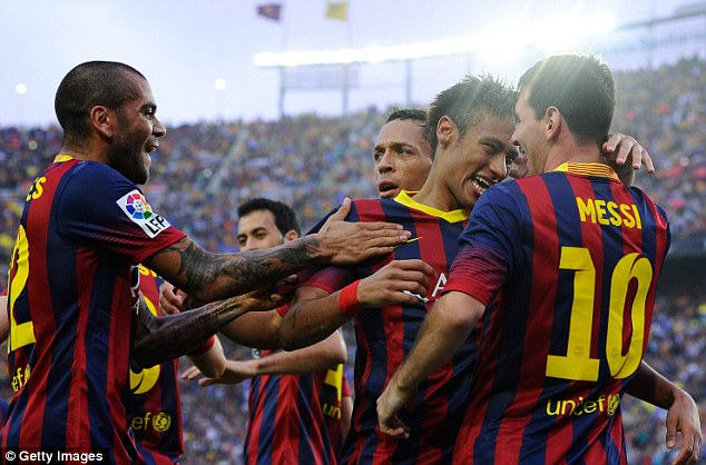Goal machine: Messi smashed nine goals in his first four matches of the campaign