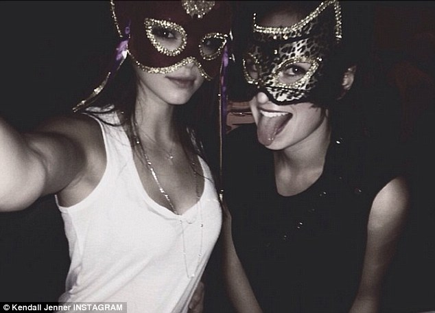 Birthday girl: Kendall, who turned 18 over the weekend, poses with a friend at her birthday bash