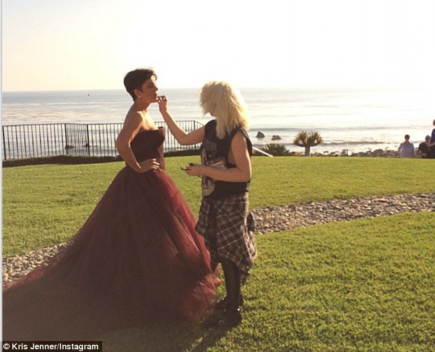 Under her mother's watchful eye: It seems Kylie's mother Kris Jenner wasn't worried about her daughter wearing the revealing ensemble as she was also present at the shoot