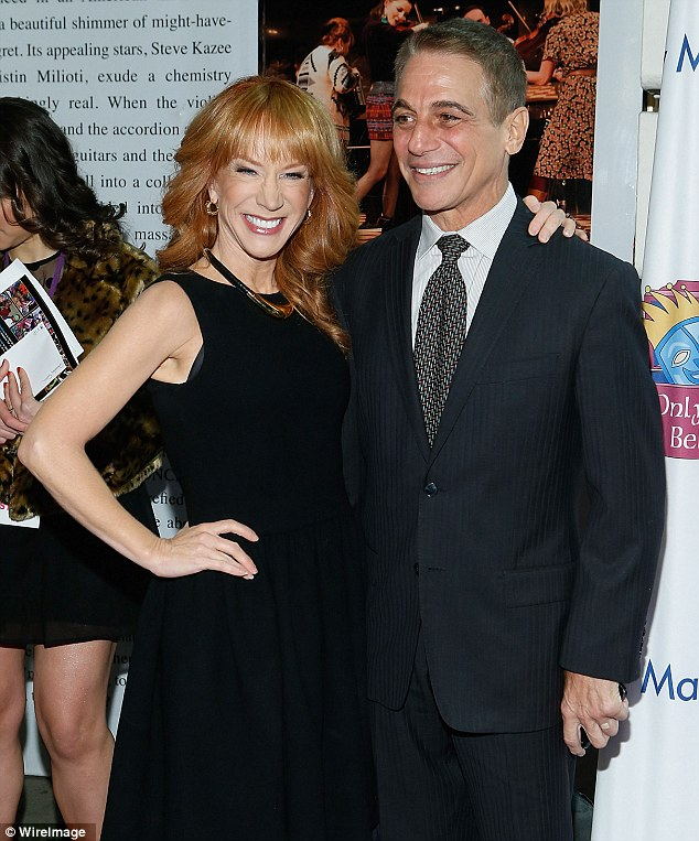 Smile! Comedian Kathy Griffin and Tony Danza also attended the event