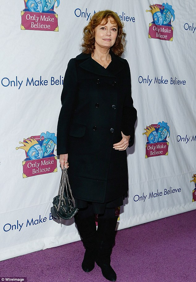 Simple but elegant: Susan Sarandon  attends the 14th annual Make Believe On Broadway gala at The Bernard B. Jacobs Theatre on November 4, 2013 in New York City