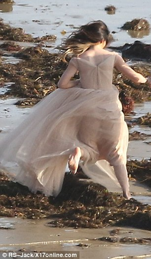 Ethereal: Kylie looked like a little ballerina in her pale pink tutu-style dress