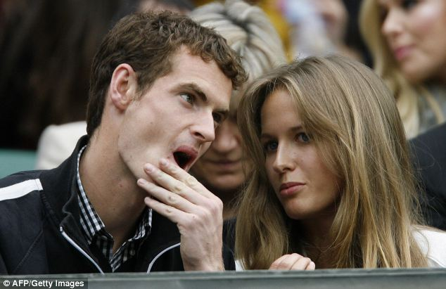 Perfect match: Murray first met Miss Sears when she was on holiday with her father, who was coaching Daniela Hantuchova on the Women's Tennis Association Tour