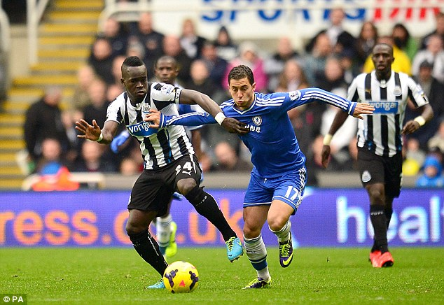 Disappointed: Hazard was dropped for the Champions League match following the 2-0 loss to Newcastle
