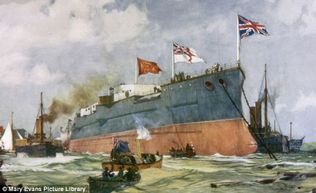 Ruling the waves: A battleship for the Royal Navy is launched at Portsmouth in 1899