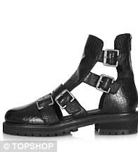 Buckle boot, £72, Topshop
