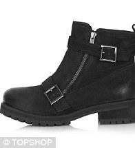 Grunge boot, £78, Topshop