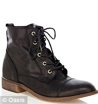 Lexie Lace Up Boots, £70, Oasis
