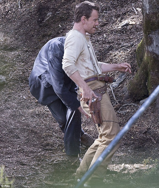 The wild west! Although Slow West is set in America, Michael's new film is being filmed in New Zealand
