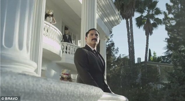 Man of the mansion: The star, who turns 40 during this season, brushes aside his emotional journey that viewers will witness when the show picks back up tonight, for the fun clip