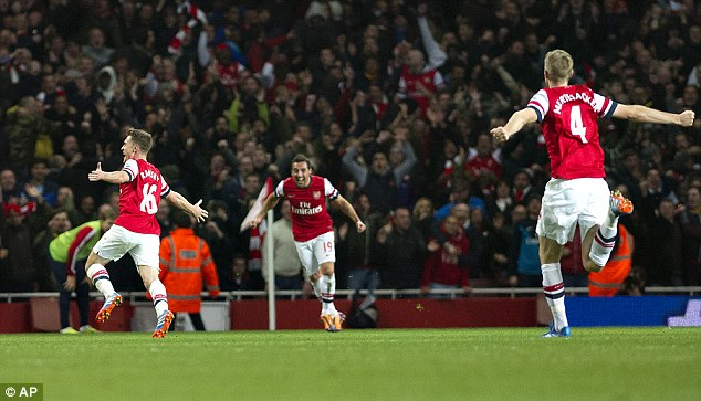 Spreading their wings: Arsenal's account has over three million followers on Twitter