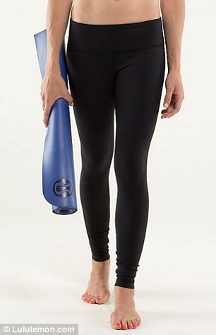 Revamped: Full-On Luon leggings (left, $83 and right, $98) were launched in response to this year's too-sheer leggings scandal, which reportedly cost the company over $20million