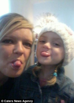 Horror: Jodi (pictured with Lexi) stabbed the dog in a bid to save her daughter