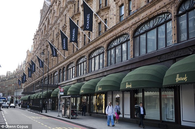 Store workers: The couple, an Italian man in his 30s and a Chinese woman in her 20s, both work at Harrods in Knightsbridge
