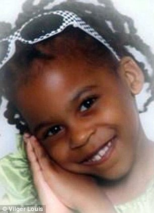 Tragic: Five-year-old Viloude Louis died of horrific injuries in June, inflicted by her half brother Devalon Armstrong, as he practiced wrestling moves on the girl
