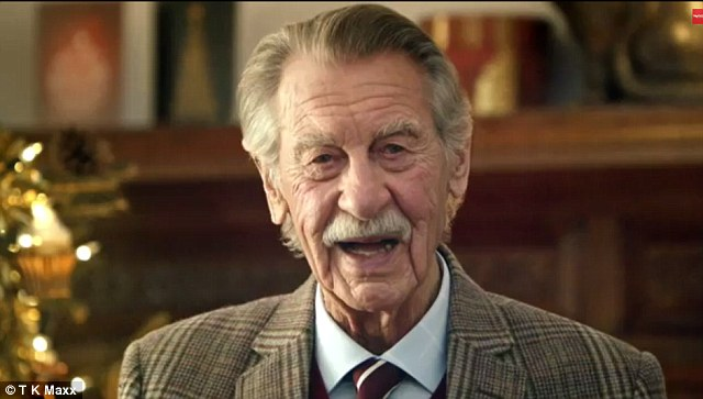 At 92 Paul is significantly older than the other stars of the advert