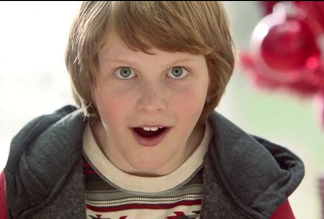 The heart-warming ad shows people reacting as they receive a special gift