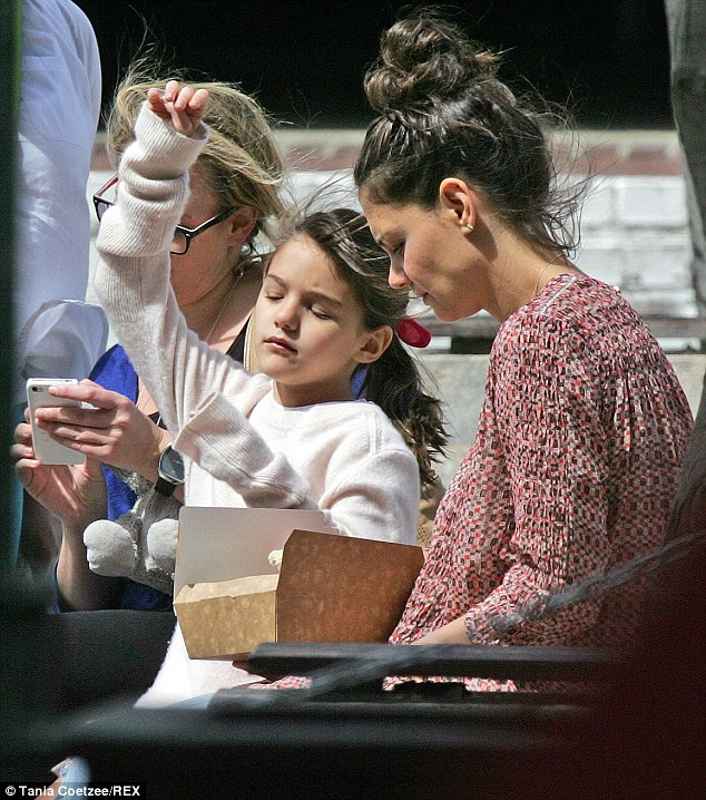 Far apart: Katie Holmes and daughter Suri Cruise are currently enjoying a break in Cape Town, South Africa