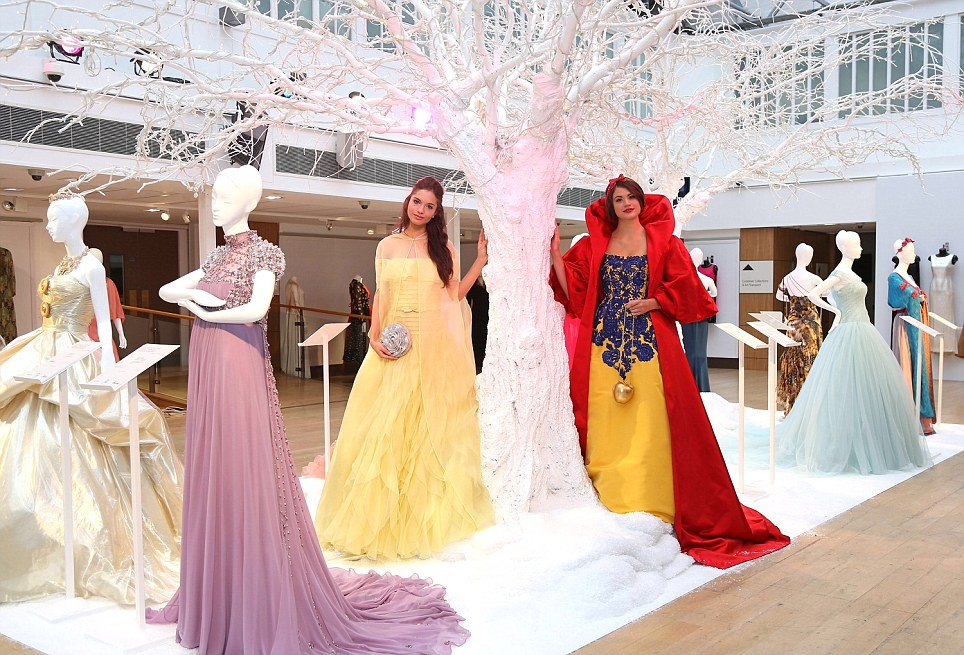 What a display: Disney and Harrods today unveiled the ten designer Disney Princess-inspired dresses, available for public viewing from November 9 at Christie's South Kensington
