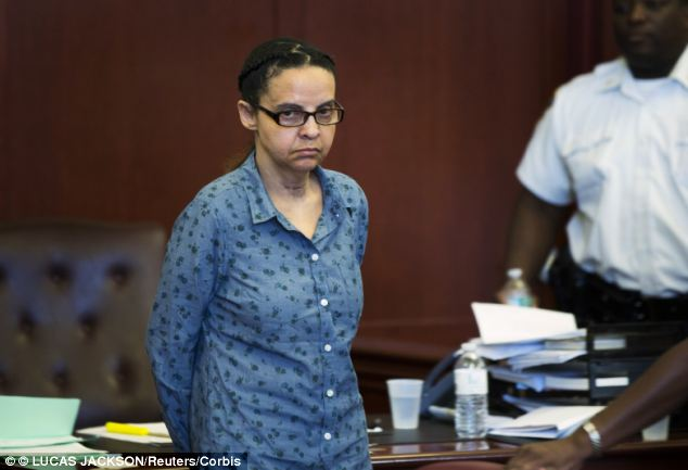 Denial: Yoselyn Ortega, who is accused of killing 2 children in her care last year, is pictured in court in July. She has claimed she had nothing to do with the killings and acted surprised when she saw an image of their bodies