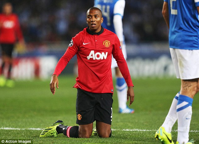 Seen it before: Ashley Young has gained a reputation for diving