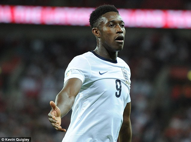 Lion: But Danny Welbeck will not feature for England in their next two matches
