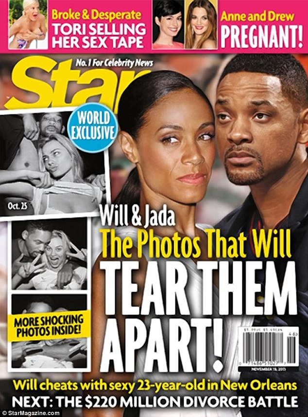 Allegations: The photos appear in a report in Star Magazine, showing the actor joking around with the blonde Australian in a photo booth