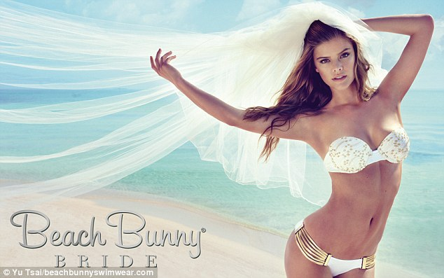 Beach Bunny Swimwear recently partnered with Victoria¿s Secret model Chrissy Teigen on a line of bridal swimsuits