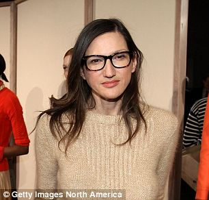 J.Crew Creative Director Jenna Lyons poses on the runway at the J.Crew Fall 2012 show