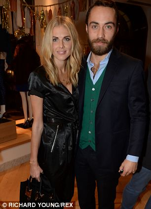 Donna Air and James Middleton at the J. Crew launch
