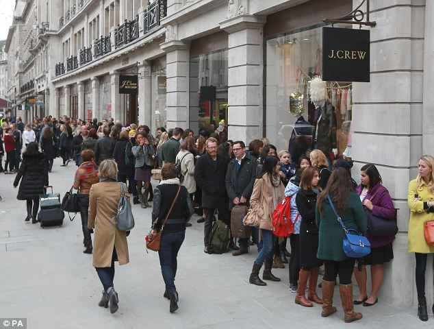 The store located at 165 Regent Street will house separate womens and menswear departments along with Crewcuts childrenswear