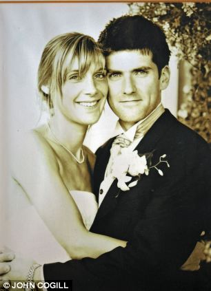 Before: Simon and Ruth on their wedding day in 2004