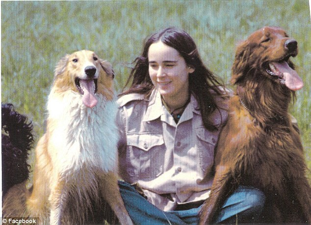 Caring: Sandra Lertzman, pictured in her youth, dedicated her life to rescuing animals