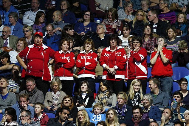 Partisan: As ever, Federer had many adoring fans supporting him at The O2
