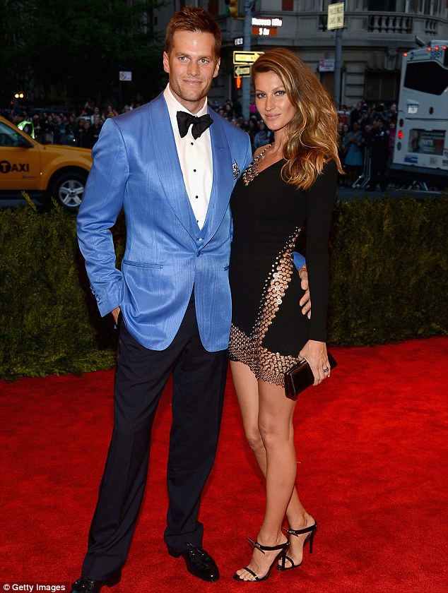Red carpet royalty: The football player and the model strike a pose in May at the Costume Institute Gala
