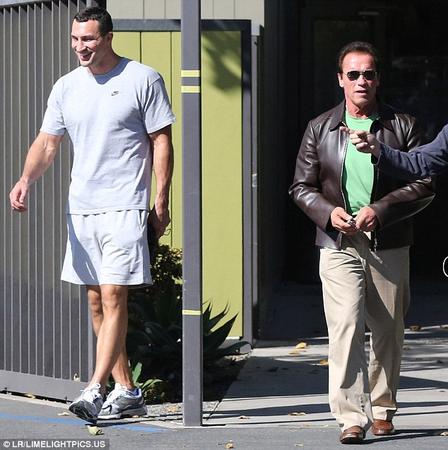 His idol? Wladimir recently showed his appreciation for Arnold by posting a Twitter snap trying to emulate one of the bodybuilder's infamous poses