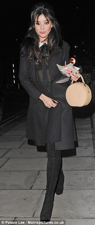 English fashion model Daisy Lowe is pictured as she arrives at the London Edition Hotel, for Alexa Chung's birthday party in London