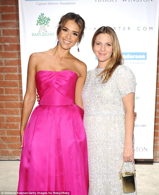 Reunited! Never Been Kissed co-stars Jessica Alba and Drew Barrymore both glowed with maternal delight reuniting at the star-studded Baby2Baby Gala in Culver City Saturday