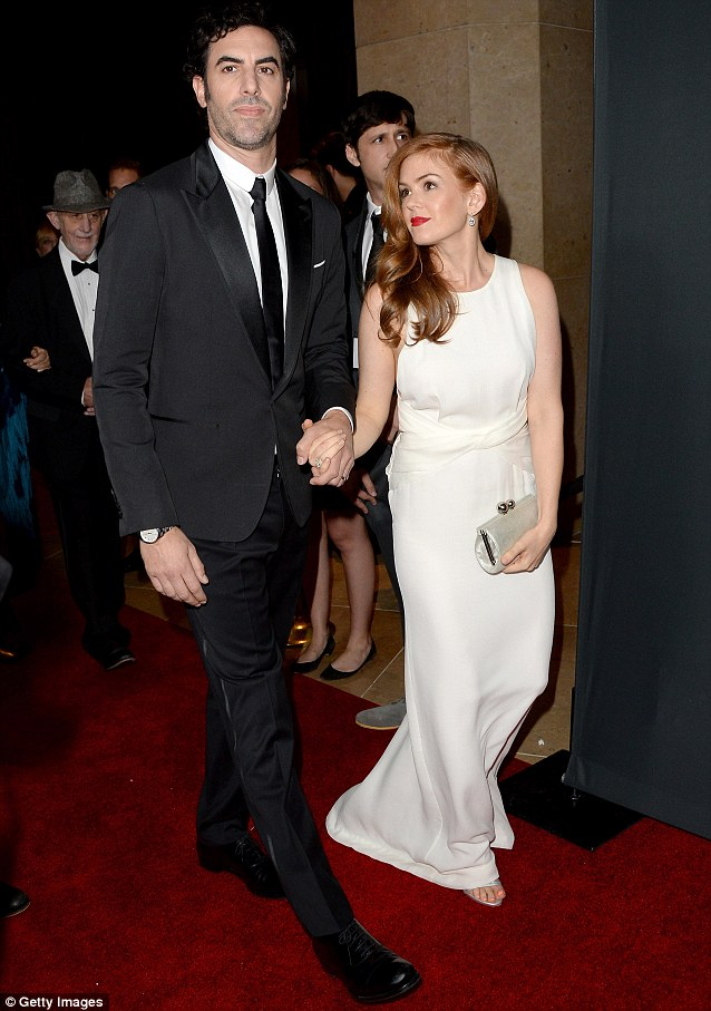 Winner: Sacha Baron Cohen attended with his wife Isla Fisher, to receive the Charlie Chaplin Britannia Award for Excellence in Comedy