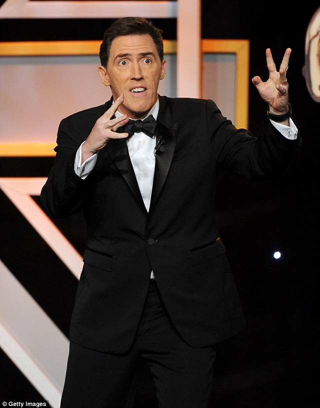 Quite the host: Rob Brydon presented the awards to celebrate British talent and American