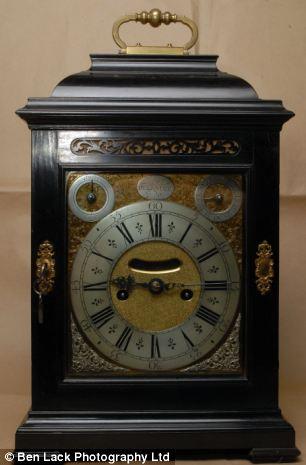 An Ebony Veneered Bracket Clock by Daniel Delander of London circa 1710 stolen
