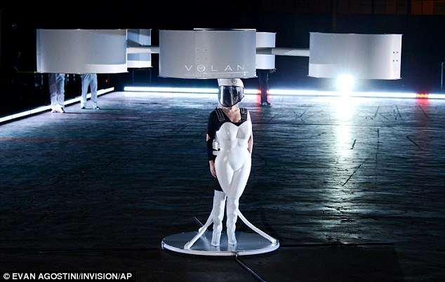 Gaga on her high-tech dress: 'I will be a vehicle today for their voices... Youth all over the world'