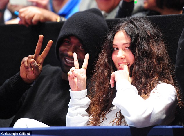 Fan for the night: Popstar Eliza Doolittle (right) poses during the final