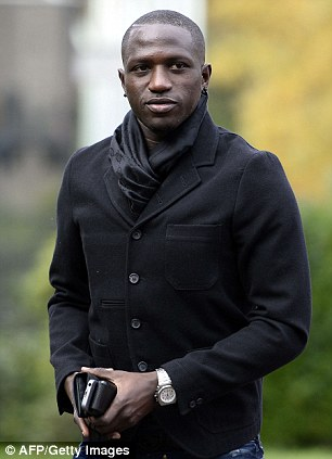 Magpie: Moussa Sissoko arrives at the French national football team centre in Clairefontaine