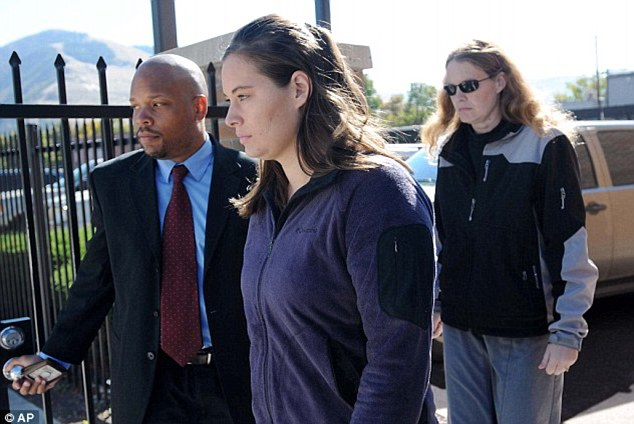 Accused: Jordan Linn Graham, center, leaves the courthouse after pleading not guilty to charges last month